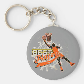 Orange Basketball Tshirts and Gifts Keychain