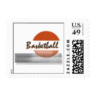Orange Basketball Tshirts and Gifts Stamp