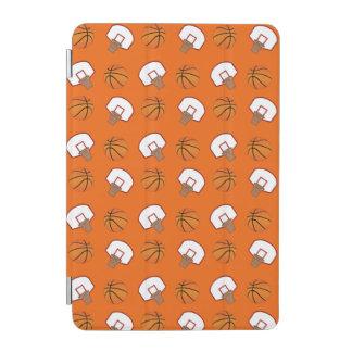 Orange basketballs and nets pattern iPad mini cover