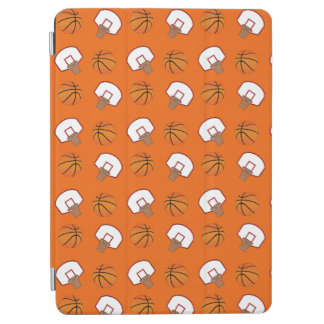 Orange basketballs and nets pattern iPad air cover