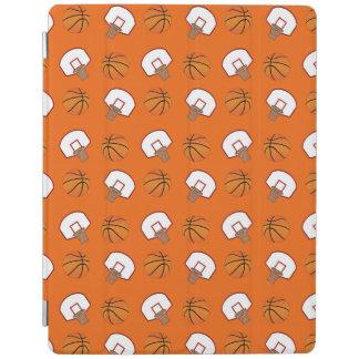 Orange basketballs and nets pattern iPad cover
