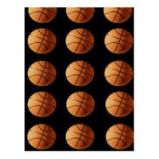 Orange_Basketballs_On_Black,_ Postcard