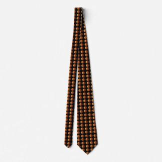 Orange_Basketballs_On_Black_Silky_Mens_Tie. Tie