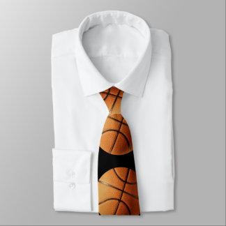 Orange_Basketballs_Pattern,_Unisex_Silky_Tie Tie