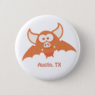 Orange Bat - Austin, TX Button