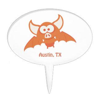 Orange Bat - Austin, TX Cake Topper