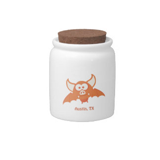 Orange Bat - Austin, TX Candy Jars