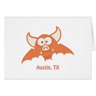 Orange Bat - Austin, TX Card