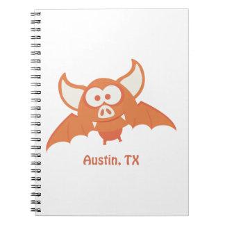 Orange Bat - Austin, TX Note Books