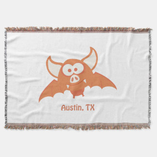 Orange Bat - Austin, TX Throw