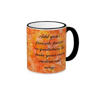 Orange Batik Style Watercolors Mug