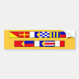 Orange Beach Flags Bumper Sticker