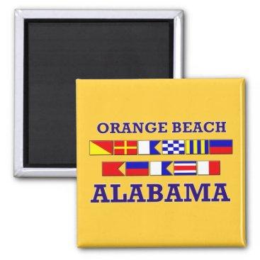 Beach Themed Orange Beach Flags Magnet