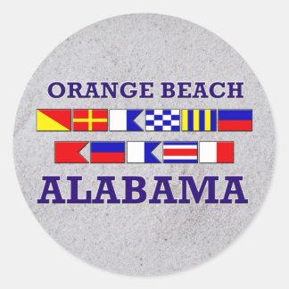 Orange Beach Flags Sticker