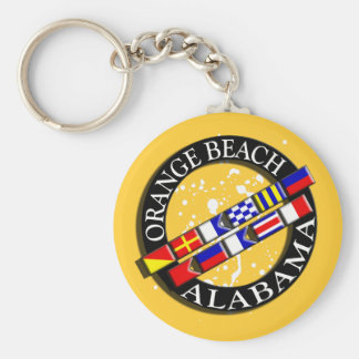 Orange Beach Nautical Keychain