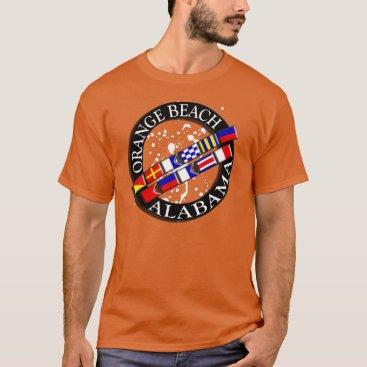 Beach Themed Orange Beach Nautical T-shirt
