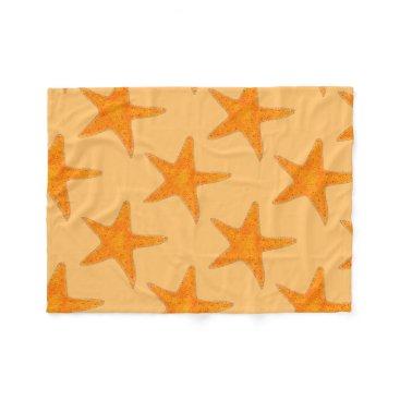 Beach Themed Orange Beach Ocean Starfish Star Fish Blanket