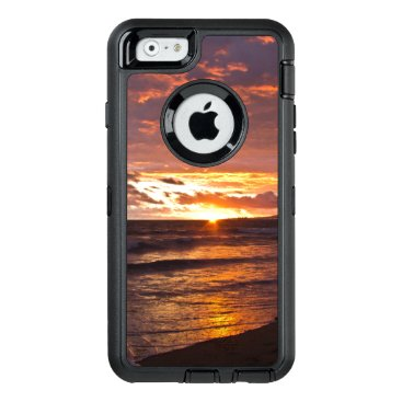 Beach Themed Orange Beach Sunset after the Storm OtterBox Defen OtterBox Defender iPhone Case
