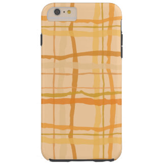 Orange Beach Sunset Plaid Device Cases Tough iPhone 6 Plus Case