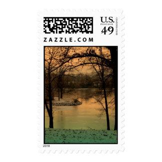 Orange_Beach_trees Postage Stamps