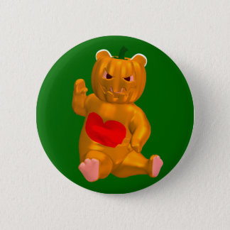 Orange Bear Button