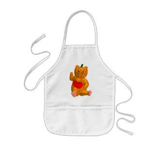 Orange Bear Kids' Apron
