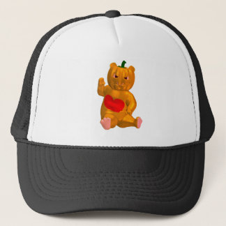 Orange Bear Trucker Hat