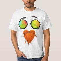 Orange Beard Don't Care Funny T-Shirt