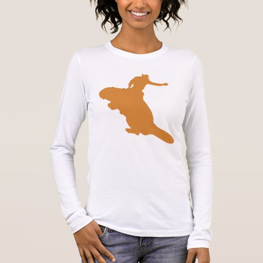 Orange Beaver Long Sleeve T-Shirt