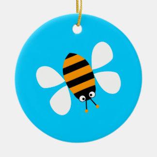 Orange Bee Ornaments