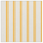 [ Thumbnail: Orange & Beige Colored Stripes Pattern Fabric ]