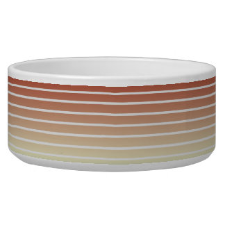 Orange Beige Vintage Stripes Bowl