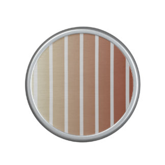 Orange Beige Vintage Stripes Speaker