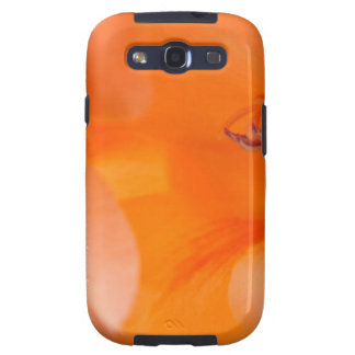 Orange Bell Flowers close-up photography digital Samsung Galaxy SIII Covers