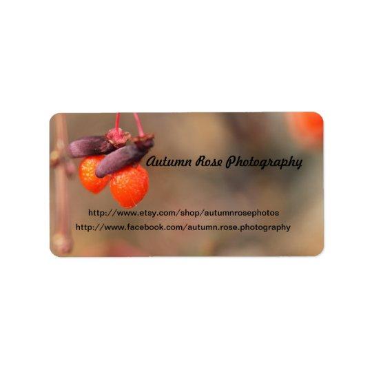 Orange Berry Labels