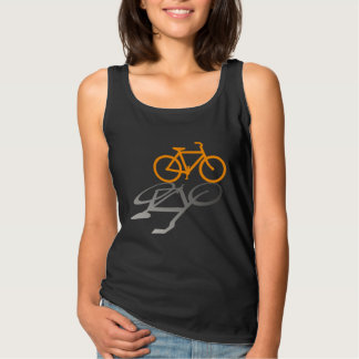 Orange Bicycle and Shadow. Tank Top