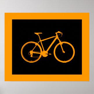 orange bicycle ~ bike for walls poster