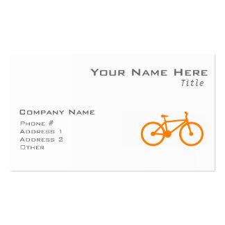 Orange Bicycle Business Card