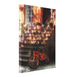 Orange Bicycle by Brownstone Gallery Wrap Canvas