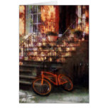 Orange Bicycle by Brownstone Greeting Card