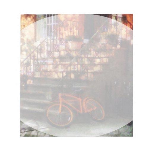 Orange Bicycle by Brownstone Memo Note Pad