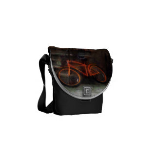Orange Bicycle by Brownstone Courier Bags