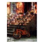 Orange Bicycle by Brownstone Post Card