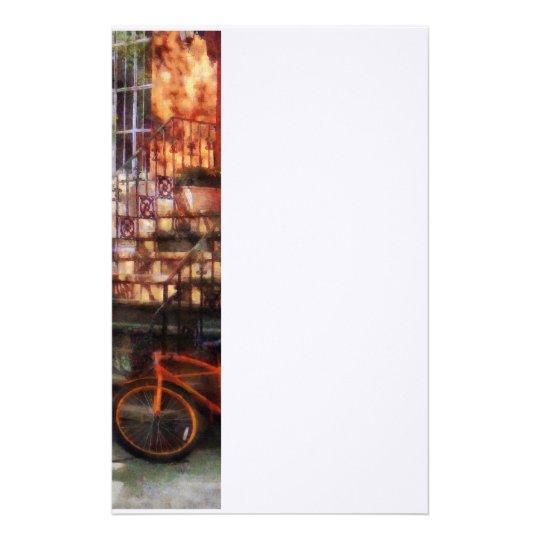 Orange Bicycle by Brownstone Stationery