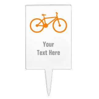 Orange Bicycle Cake Pick
