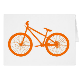 Orange bicycle card