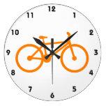 Orange Bicycle Clock