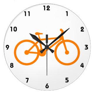 Orange Bicycle Wall Clocks
