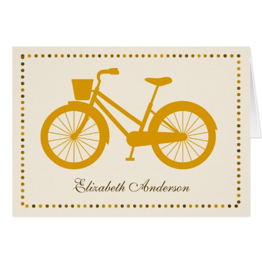 Orange Bicycle Folded Note Cards