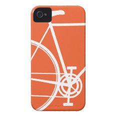 Orange Bicycle Iphone 4 Case at Zazzle